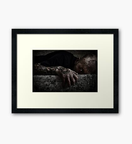 A LIFE OF DECAY Framed Print