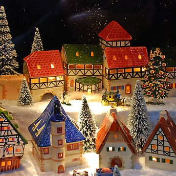 Miniature winter village by akoene232