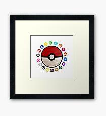 Pokemon - Pokeball Framed Print