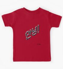 8-bit Annyeong! T-shirt (Black) Kids Tee