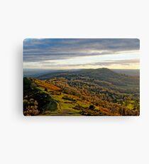 Malvern Hills, a southward view Canvas Print