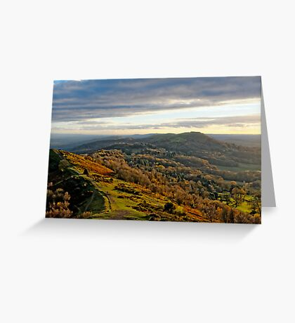 Malvern Hills, a southward view Greeting Card