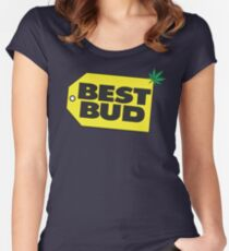 Best Bud Women's Fitted Scoop T-Shirt
