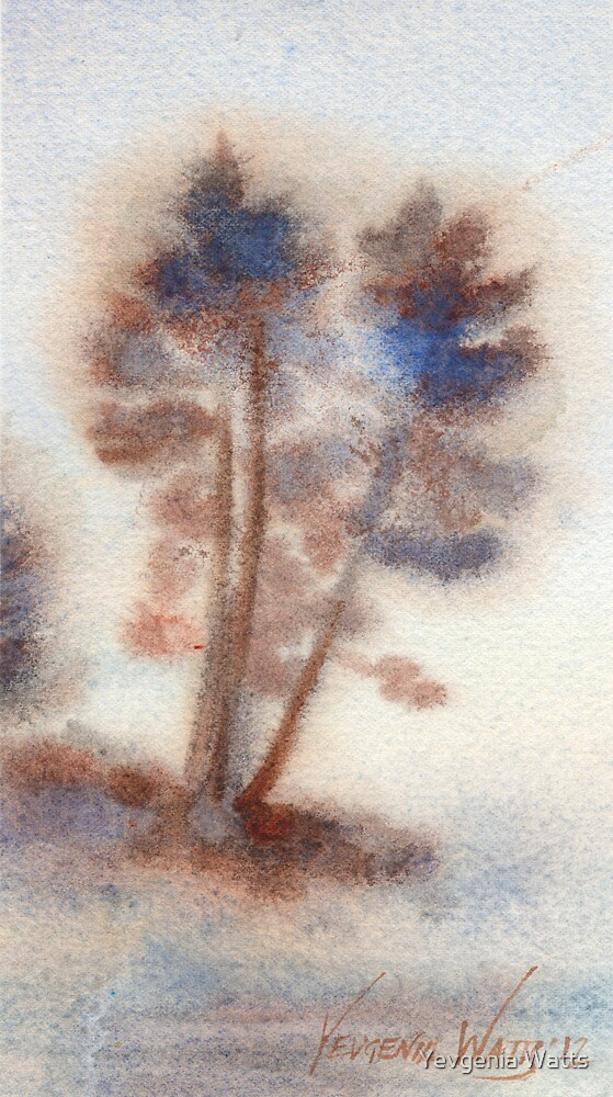 Pines at the Lake by Yevgenia Watts