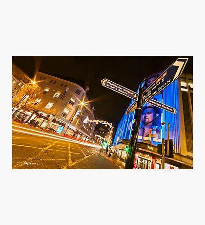 'Le Blue' Manchester Photographic Print