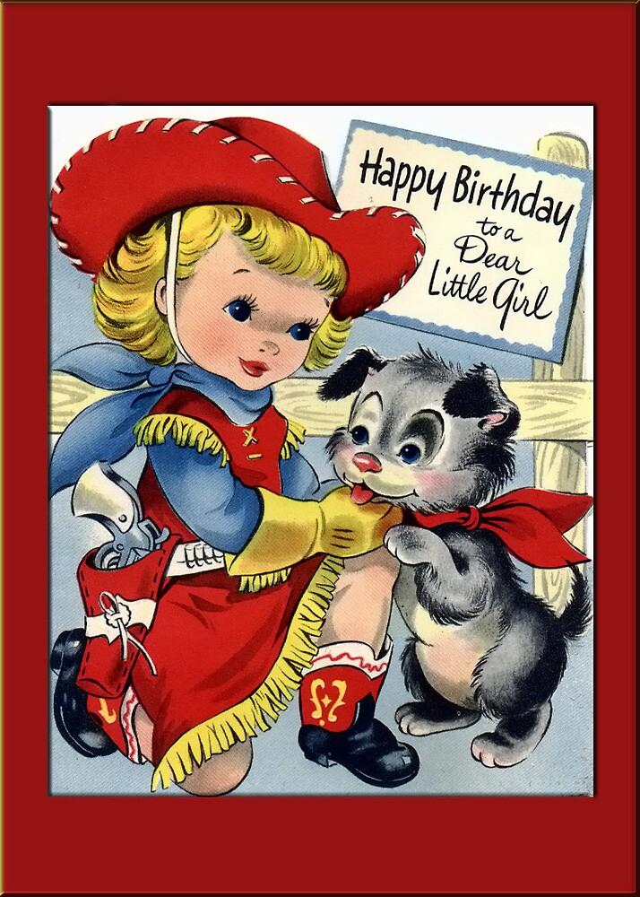 Cowgirl Birthday Greetings by Yesteryears
