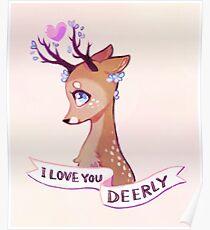 Póster Te amo Deerly