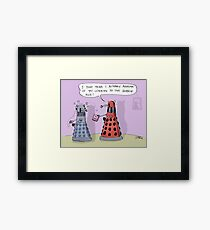 dalek who Framed Print
