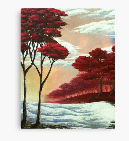 Warm Snow Canvas Print