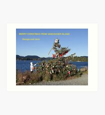 Merry Christmas From Vancouver Island Art Print