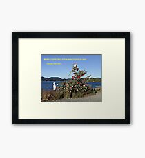 Merry Christmas From Vancouver Island Framed Print