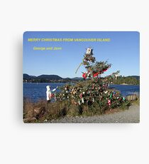 Merry Christmas From Vancouver Island Canvas Print