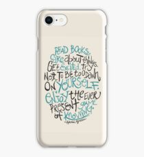 The Ever Present Game of Knowing iPhone Case/Skin