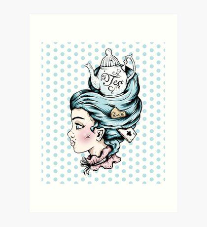 Tea Pot Lady Art Print
