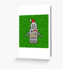 Santa Robot Greeting Card
