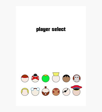 Player Select Minimal Poster Photographic Print
