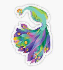 Peacock  Transparent Sticker