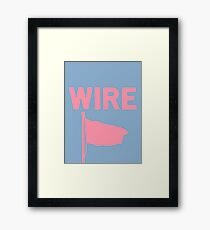 Wire - Pink Flag Framed Print