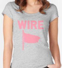 Camiseta entallada de cuello ancho Alambre - Bandera rosa