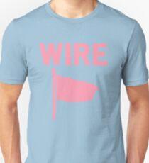 Camiseta unisex Alambre - Bandera rosa
