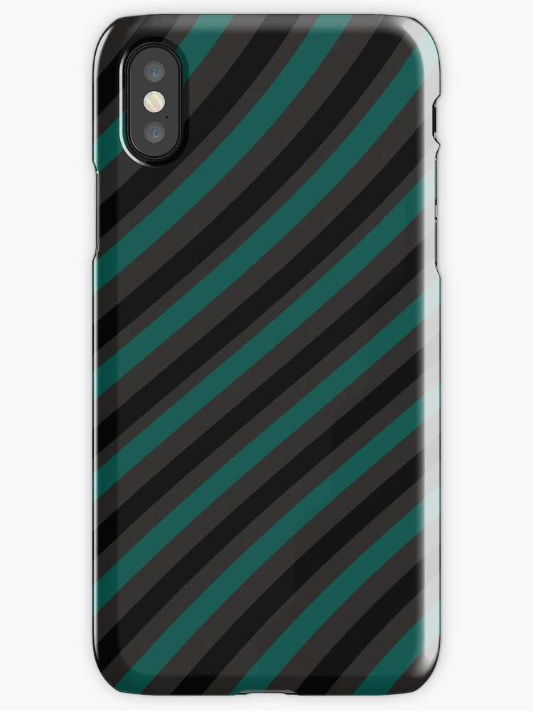 Pattern - stripes - petrol, black, grey by CatchyLittleArt
