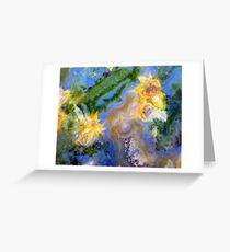 Daffodils (Red Lightning Agate) Greeting Card