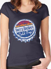 Sweet Brown's Cold Pop Bottlecap Shirt V1 Women's Fitted Scoop T-Shirt