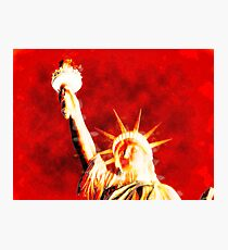 Thermal Statue of liberty face Photographic Print