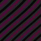 Stripes - magenta, grey and black pattern by CatchyLittleArt