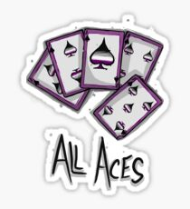 All Aces Sticker