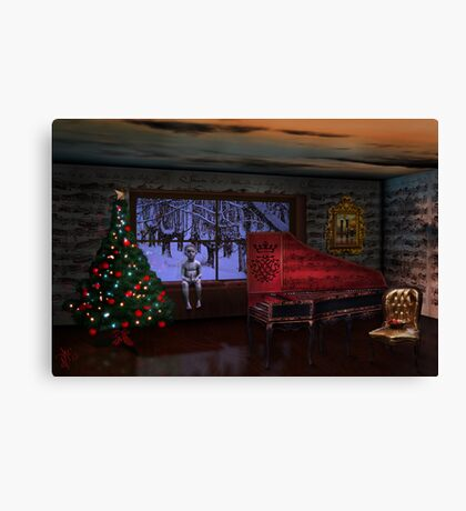 In the Bleak of Midnight (DO HAVE...THE BEST NEW YEAR) Canvas Print