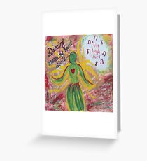 Culture Dance Greeting Card