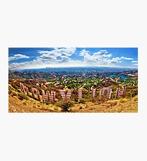 Behind the Hollywood Sign Photographic Print