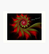 Christmas Ribbon Candy Greetings Art Print