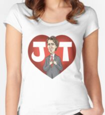 I heart Justin Trudeau Women's Fitted Scoop T-Shirt