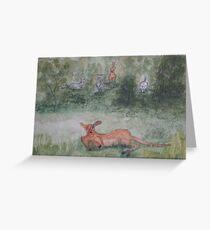 Kangaroos. Greeting Card
