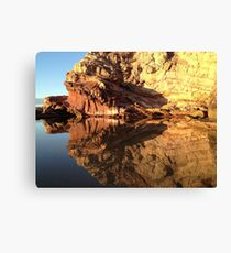Mirror Rock Image Canvas Print