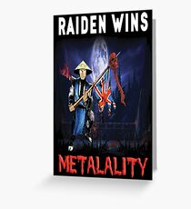 Raiden Wins Metalality (Iron Maiden) Greeting Card