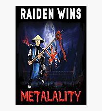 Raiden Wins Metalality (Iron Maiden) Photographic Print