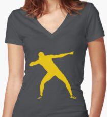 Usain Bolt Women's Fitted V-Neck T-Shirt