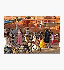 Jaipur,Street Scene Photographic Print