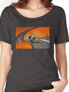 retro motorcycle Isle of Man TT poster Women's Relaxed Fit T-Shirt