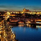 Prague by night by Colin White
