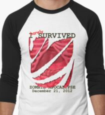 Zombie Apocalypse 2012 survivor Men's Baseball ¾ T-Shirt