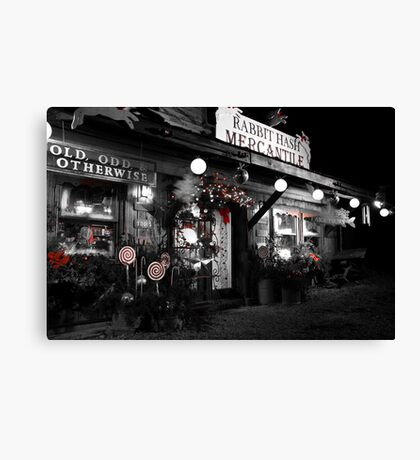 Christmas in Rabbit Hash Canvas Print