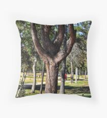 The Tuning Fork Tree Throw Pillow