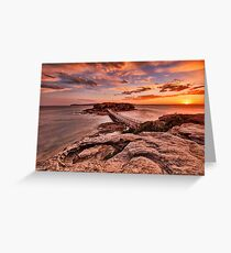 Bare Island Sunset Greeting Card