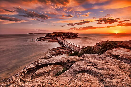 Bare Island Sunset by Arfan Habib