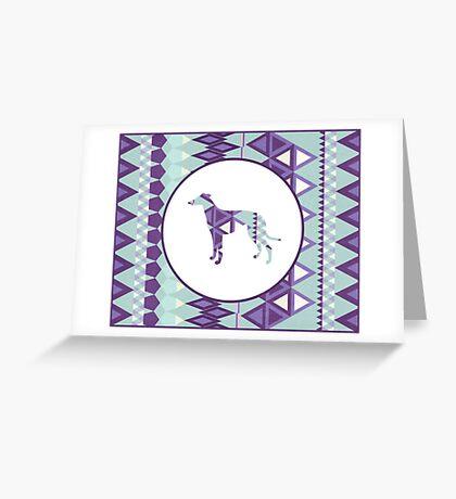Greyhound Geometri Greeting Card