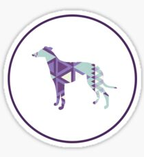 Greyhound Geometri Sticker